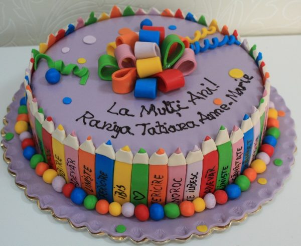 Tort Creioane Colorate A601