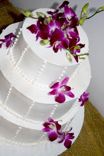 Tort Nunta N207 Orhidee Mov Cofetaria Paradis